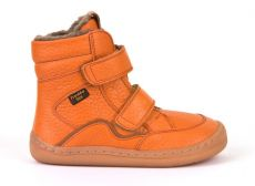 Froddo barefoot winter high boots orange - with membrane | 23, 24, 25, 26, 27, 28, 29, 30, 31, 32, 33, 34, 35