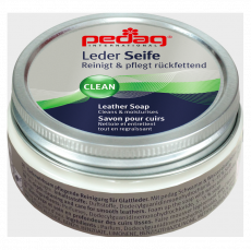 Pedag LEATHER SOAP cleansing soap for shoes made of smooth leather, including TEX membranes