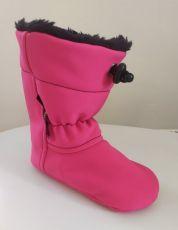 Softshell slippers - pink   12 cm, 14 cm
