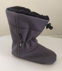 Softshell slippers - gray   12 cm, 14 cm