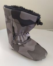 Softshell slippers - gray camouflage   12 cm, 14 cm