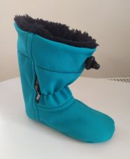 Softshell slippers - turquoise   12 cm, 14 cm