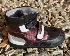 Jonap barefoot shoes FALCO burgundy gloss SLIM | 23, 24, 26, 27, 29, 30