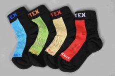 Surtex merino ponožky froté - tenké červené