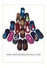 Barefoot Capáčky Menu baby shoes - bílé s růžovou korunou bosá