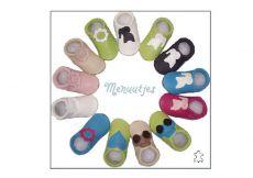 Barefoot Capáčky Menu baby shoes - růžové s balónem bosá