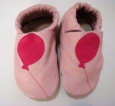 Capáčky Menu baby shoes - růžové s balónem