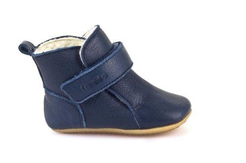 Barefoot Froddo Prewalkers zimní modré sheepskin bosá