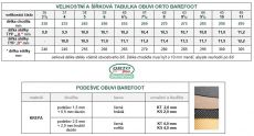 Barefoot Barefoot kožené sandále černé BF B107 -60V ORTOplus Barefoot bosá