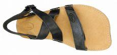 Barefoot Barefoot kožené sandále čokoládové BF B107 -66 ORTOplus Barefoot bosá