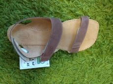 Barefoot kožené sandále čokoládové BF A108 -66