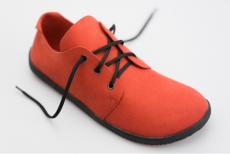 Ahinsa Shoes Bindu Bare Červená