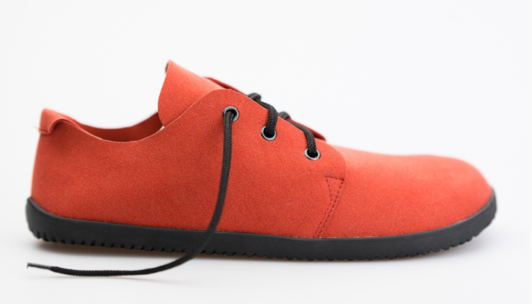 Barefoot Ahinsa Shoes Bindu Bare Červená bosá