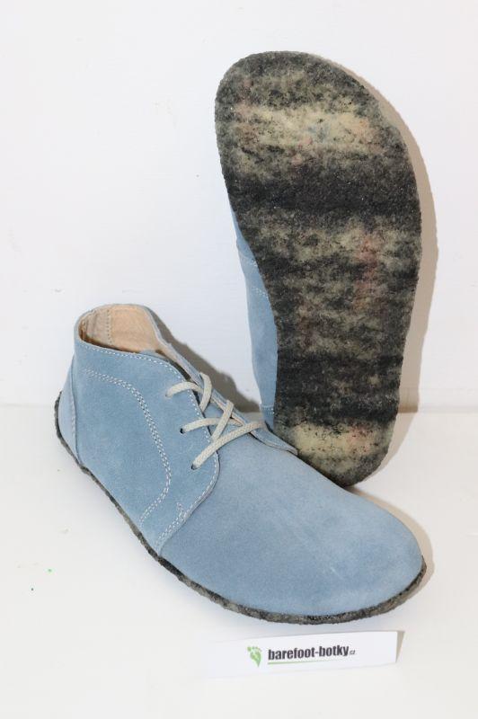 Barefoot Lenka Barefoot kotníčkové kožené boty - modré Be Lenka bosá