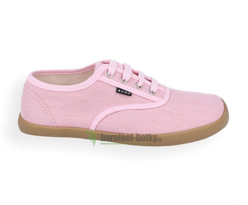 Barefoot Barefoot konopné tenísky Kolda plus Coral blush/gum Bohempia bosá