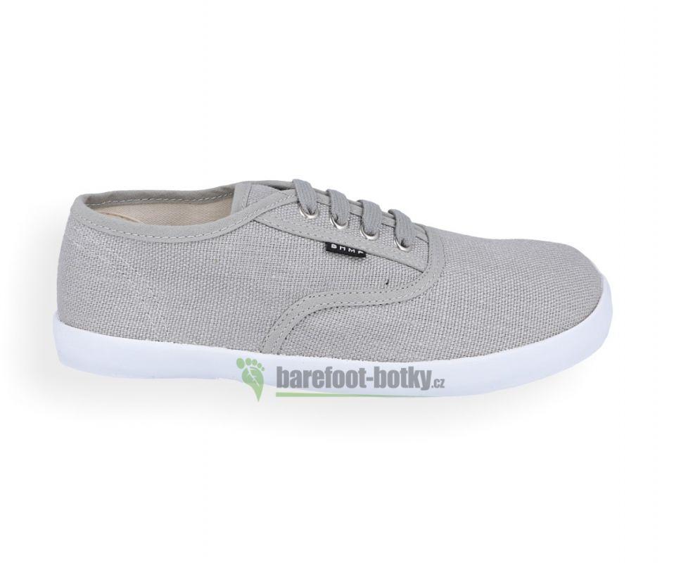 Barefoot Barefoot konopné tenísky Kolda plus Light grey/white Bohempia bosá