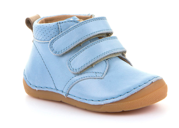 Barefoot Froddo flexible year-round ankle boots light blue