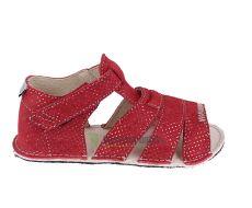 Ortoplus barefoot sandálky D200  červené se třpytkami